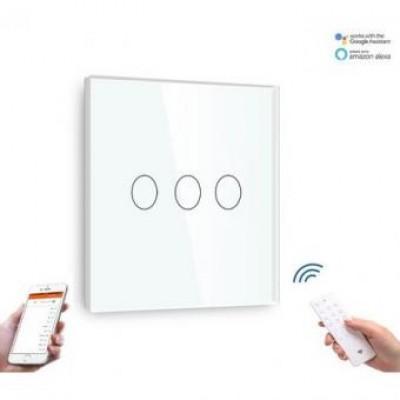 Intrerupator triplu smart WIFI compatibil google home ALEXA