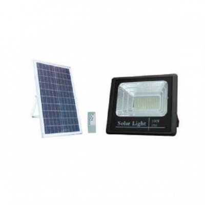 Proiector LED 100W solar cu telecomanda