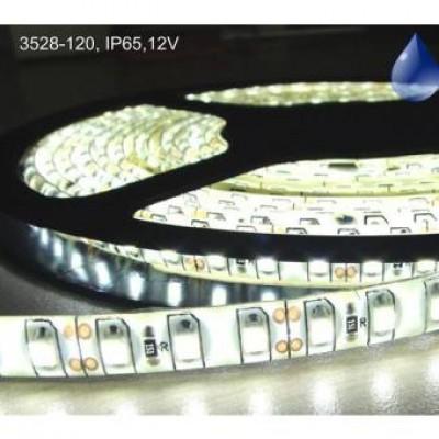 Banda LED 3528,120 buc/m, exterior, 8W