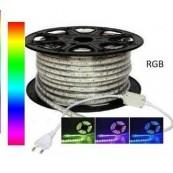 Banda LED RGB, 60 buc/m, impermeabila, 220V, 14W