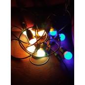 Ghirlanda becuri led 2w colorate 20m 20 becuri E27 exterior interconectabil