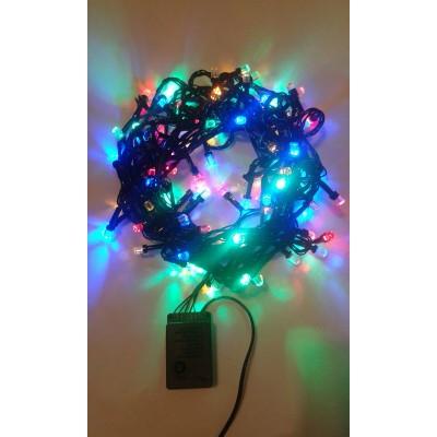 Instalatie Craciun LED de exterior/interior 100LED lumina multicolora 9m