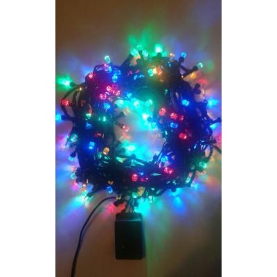 Instalatie Craciun LED de exterior/interior 200LED lumina multicolora 18m