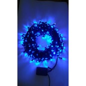 Instalatie Craciun LED de exterior/interior 320LED lumina albastra-bleumarin 27m