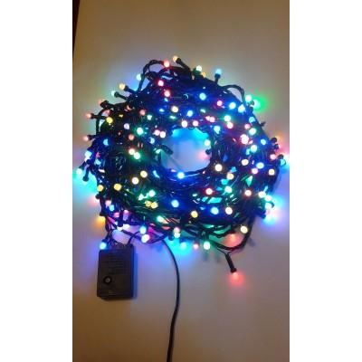 Instalatie Craciun LED de exterior/interior 320LED lumina multicolora 27m