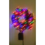 Instalatie Craciun LED de interior 300LED lumina multicolora 20m