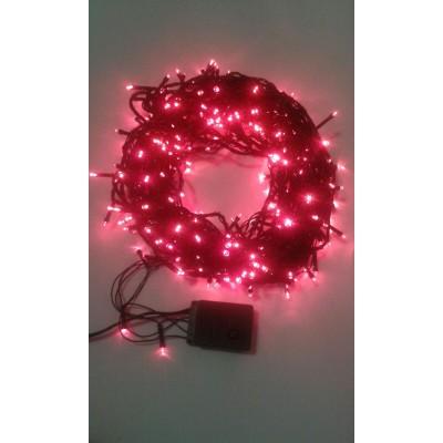 Instalatie Craciun LED de interior 300LED lumina rosie 20m