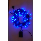 Instalatie Craciun LED de interior 80LED bobite magice lumina albastra 10m