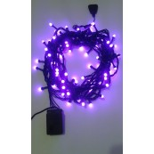 Instalatie Craciun LED de interior 80LED bobite magice lumina mov 10m