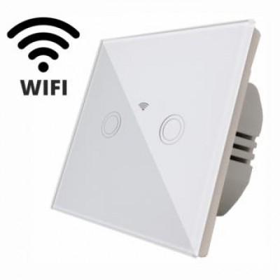 Intrerupator smart dublu WIFI compatibil google home Alexa