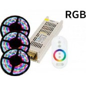 Kit banda led interior 15m RGB