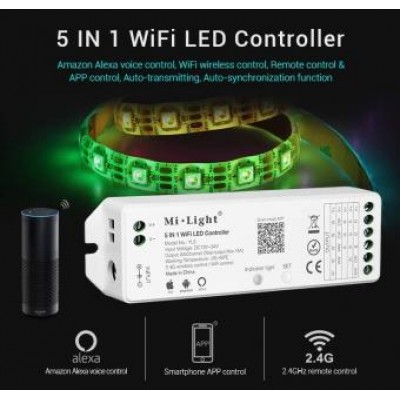 Kit banda led inteligenta 2.5m RGBWW si contoler