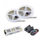 Kit banda LED RGB 120 led/m 10m