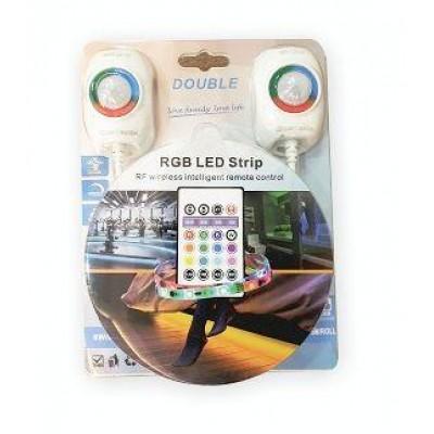Kit banda LED RGB cu 2 senzori pentru iluminare