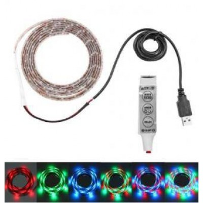 Kit banda LED RGB cu USB 1m