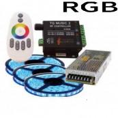 Kit banda led  RGB muzical 15m 216W