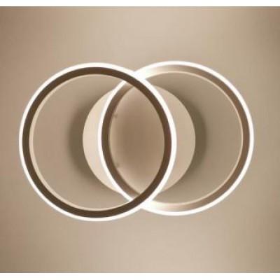 Lustra 30w 3 functii cercuri alba