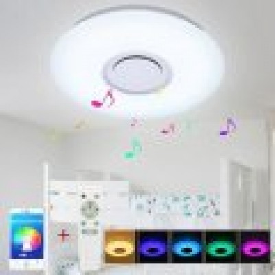 Plafoniera LED-difuzor, RGB, telecomanda, dimabila si bluetooth
