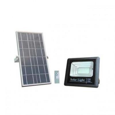 Proiector Led 25w solar cu telecomanda