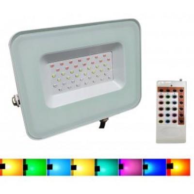 Proiector LED 30W RGB cu telecomanda RF