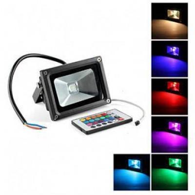 Proiector LED RGB cu telecomanda 10w