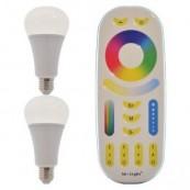 Set 2 becuri RGBW INTELIGENTE 12w cu telecomanda MILIGHT